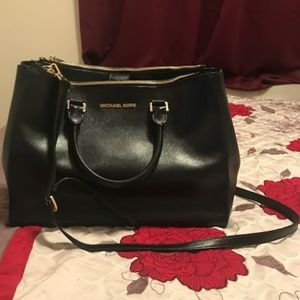 MICHAEL KORS DOUBLE ZIP TOTE JET SET TRAVEL BAG